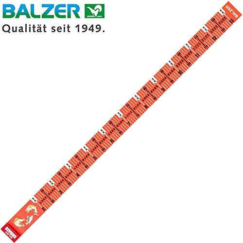 Balzer Shirasu Maßband 130cm - Fischmaßband zum Messen von Fischen, Measuring Mat zum Spinnfischen auf Raubfische, Fische messen