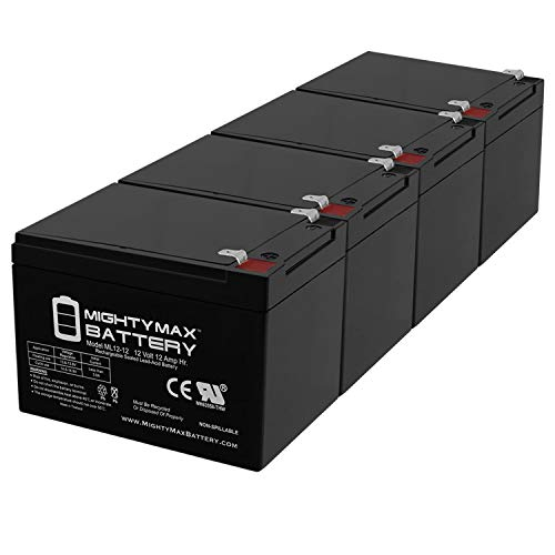 Mighty Max Battery 12V 12AH Compatible Battery for 6-DZM-12 APC Scooter Medical - 4 Pack Brand Product