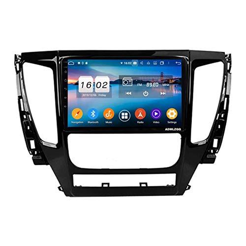 WY-CAR Unidad Principal De Pantalla Táctil De 9 Pulgadas Navegación GPS para Mitsubishi Pajero Sport 2016-2019, Mirrorlink/Bluetooth/FM/RDS/Controles del Volante/Cámara De Visión Trasera