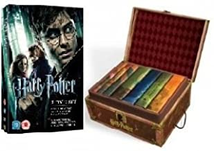 Harry Potter Christmas Giftset Complete Series of Books and DVD's 1-7 (Special Trunk Boxset Collectible Hardbacks and the first seven Harry Potter films)