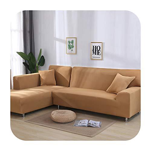 Hylshan Funda elástica para sofá cama de tela antideslizante en forma de L para sofá cama #BB01-21-1 asiento 90-140 cm