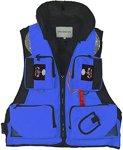 YZJL Chaquetas y Chalecos salvavidasChaleco Salvavidas para natación para Adultos, Chaqueta para navegar en Kayak, Chaleco, Chaqueta de Rescate, múltiples Bolsillos, Chaleco Salvavidas para Pesca