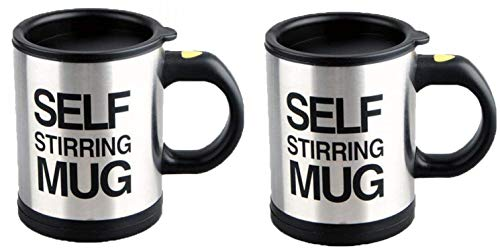 2 Pack Automatic Self Stirring Mug Coffee Cup Mixer Tea