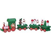 Wooden Mini Train Decor for Christmas (Green)