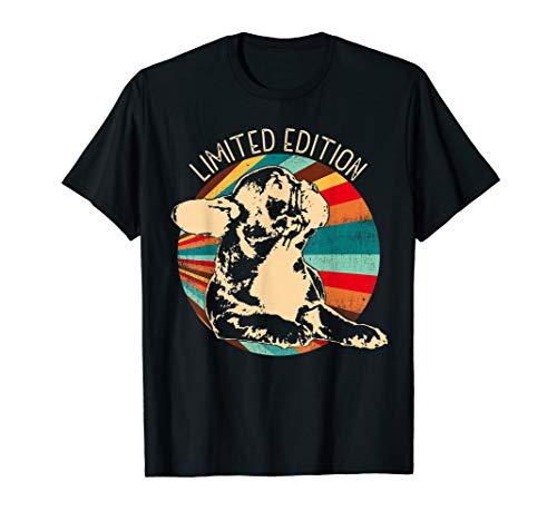 Retro Französische Bulldogge T-Shirt Damen & Herren