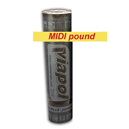 Guaina Bituminosa Poliestere Impermeabilizzante - ROTOLO DA 10 METRI - spessore 4 mm alta prestazione - Colore Grigio