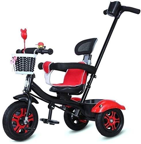 Pushchairs Trikes driewielers 3-in-1 ouder duwen driewieler voor kinderen peuter fiets peuter driewieler met drukknop handvat verstelbare hoogte duwen rit driewieler geschikt voor kinderen 1-3-5 jaar baby producten