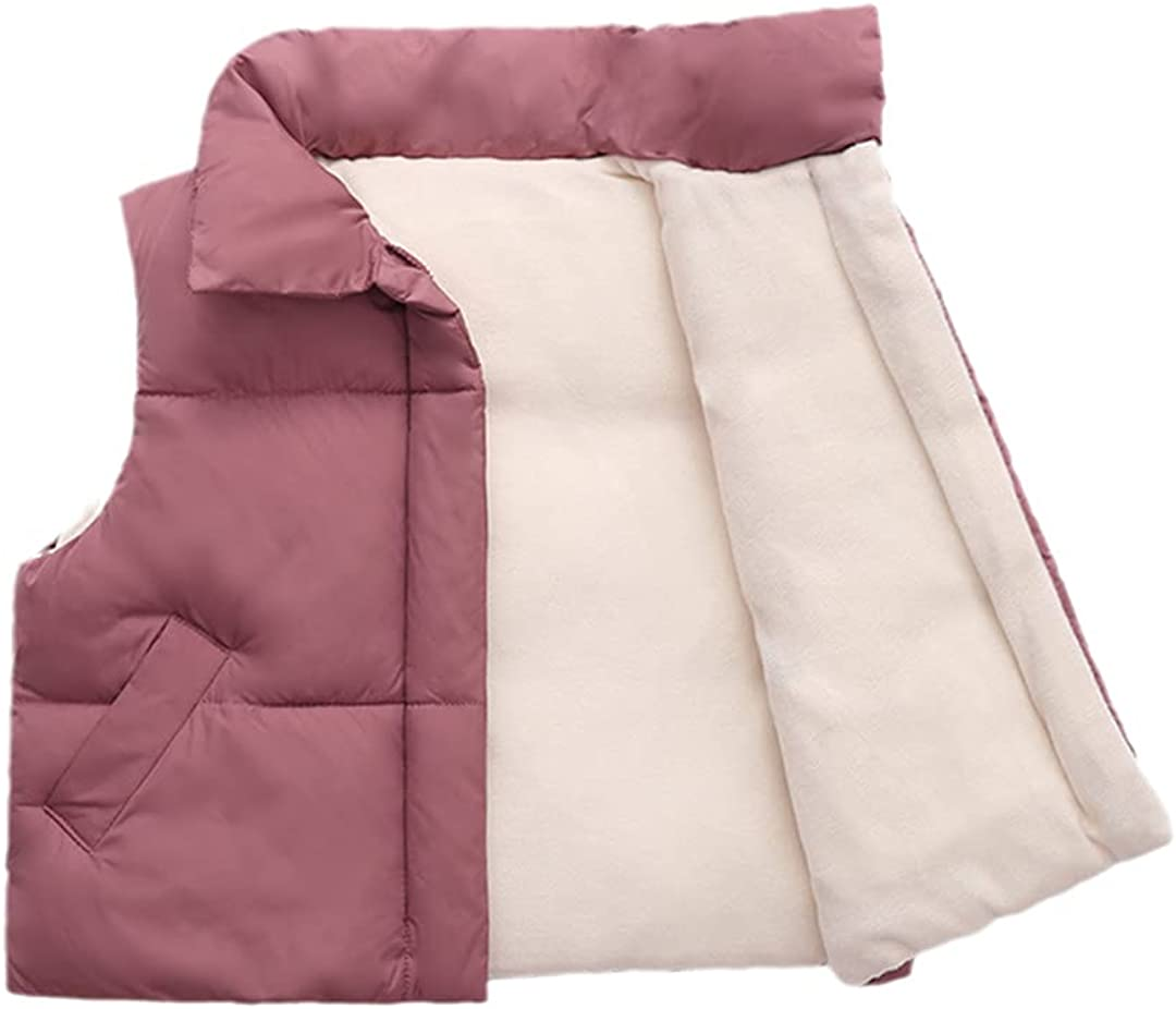 FLZS Children Vests Coats 2-9 Year Warm for Boys & Girls Little Vests Unisex Kids