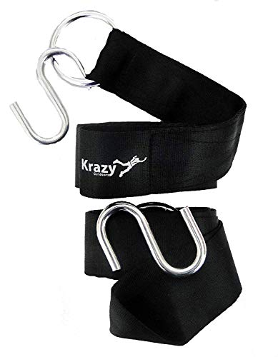Krazy Outdoors Hammock Tree Straps - 11 Feet Long Heavy Duty Adjustable Polyester Seatbelt Quality -...