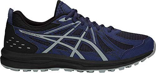 ASICS Men's Frequent Trail Running Shoes, 9.5, Blue Print/Stone Grey