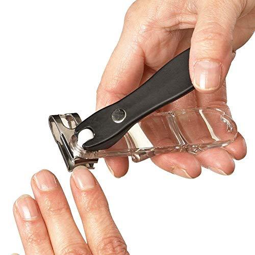 EZ Grip Finger- / Zehennagelknipser um 360 Grad drehbar, Edelstahl, scharfe Klinge, Trimmer und Cutter