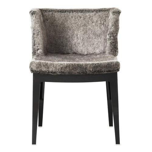 Kartell Mademoiselle Kravitz stoel, plastic, grijs, 52,5 x 74 x 50 cm