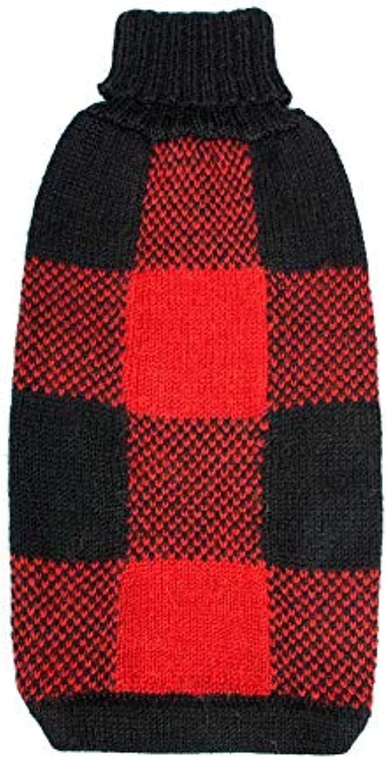 Alqo Wasi Peruvian Dogwear Dog Sweater (XL, Buffalo Plaid)