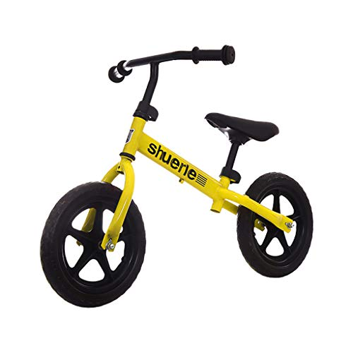 Darkduke 12Inch Lightweight Balance Bike, Kids Training Bicycle with Height Adjustable Seat & Handlebar, No-Pedal Pre Walking Bike for Toddler & Children Ages 2 to 5 Years(Yellow)