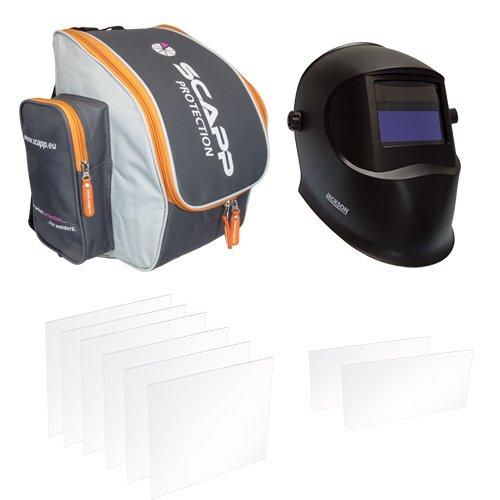 JACKSON Automatik Schweißhelm WH20 ASPIRE 9-13 im SET mit SCAPP Rucksack - Marken-Qualität von Jackson Safety