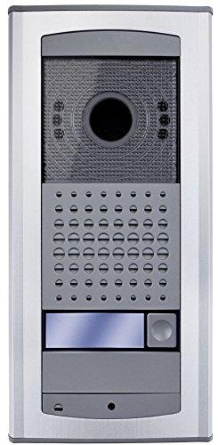 Farfisa IPV11AGLS IP/LAN SIP Videotürstation mit 1 Klingeltaste, 4 W, 12 V, Hellgrau