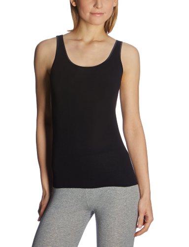 Schiesser Damen Trägertop Unterhemd, Schwarz (000-schwarz), 46 (3XL)
