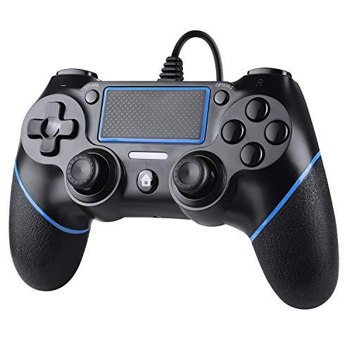 Zexrow Wired Controller für PS4,Wired Game Controller für PlayStation4/Pro/Slim/PC,Gamepad mit Dual Vibration,Anti-Rutsch-Griff und mit 2.1m langem USB-Kabel