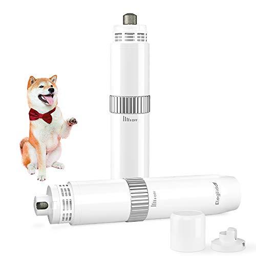 Cortauñas para Perro y Gato, Lima de Uñas Électrica para Perros Mascotas Pequeño/Grande, Amoladora con Colector de Polvo, Control de Velocidad Continuo,Silencioso USB Recargable