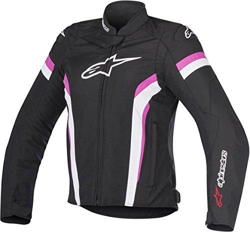 Alpinestars, giacca da moto, Stella T-gp Plus R V2 Air, colore: nero, bianco, fucsia - XS