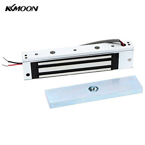 KKmoon 180KG/350Lbs Cerradura Magnética Puerta Eléctrica 12V Electromagnética Fuerza de Retención para Control Acceso Sistema Seguridad