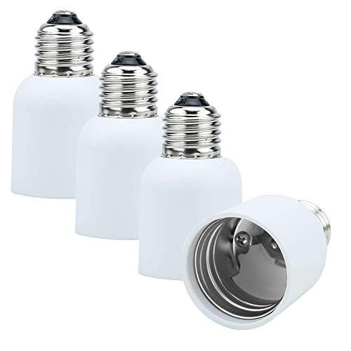 Intirilife 4X Adaptador de Base de lámpara E27 a E40 en Blanco...
