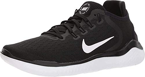 Nike Women's Free RN 2018 Running Shoe (6.5, Black/White)