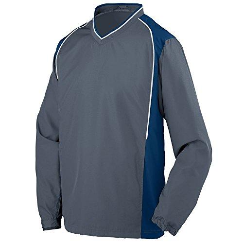 Augusta Sportswear Men's Pullover, Graphite/Navy/White, XXX-Large