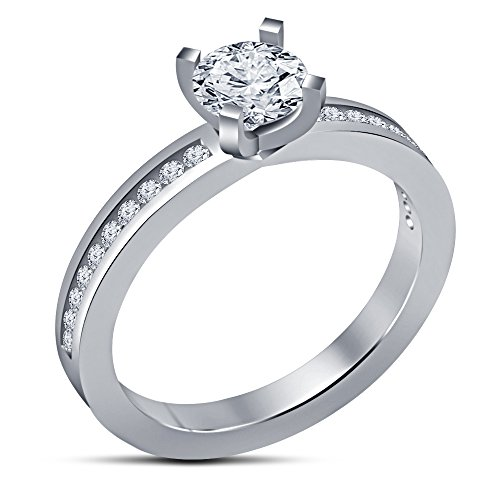 Vorra Fashion Celebrity Keiko Kitagawa Style White Platinum Plated 925 Silver Engagement Ring (9)