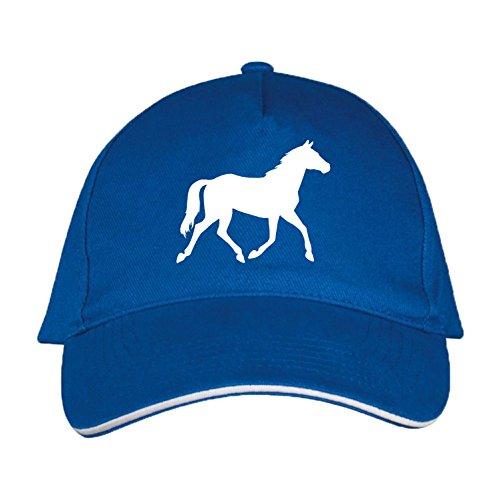 Sol's / Fassbender-Druck Basecap mit Pferd Bedruckt (Pferd Blau)