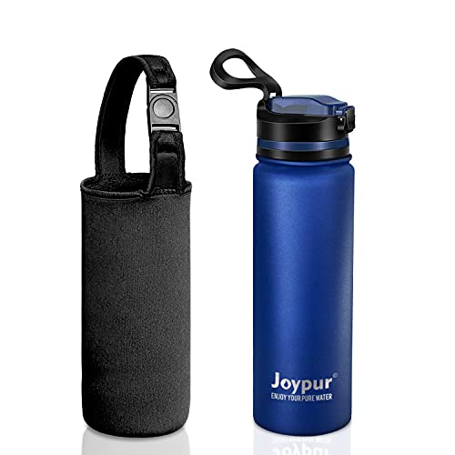 Water Filter Bottle, Emergency Water Purifier with 0.01 Micron 4-Stage Filter Straw,18/8 Stainless Steel Filtered Bottle Survival Gear for Hiking, Backpacking Camping, BPA Free and Carrying Pouch