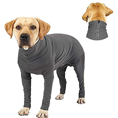 KADUNDI Dog Recovery Suit After Surgery,Pet Surgical Wear For Abdominal Wounds or Skin Diseases Prevent Licking Cone E-Collar Alternative,Bite Post-operative Clothing?XXL?