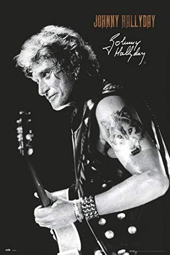Erik® - Poster Johnny Hallyday Signature - Papier Glacé - 91x61cm