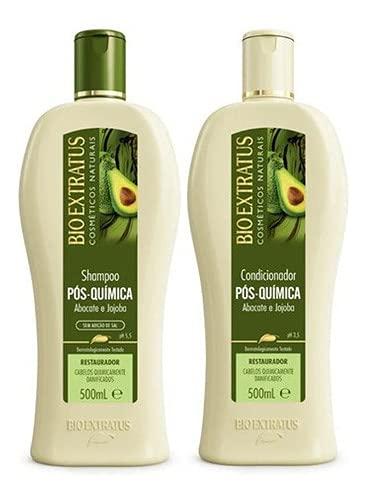 Kit Pós Química Shampoo + Condicionador 500ml Bioextratus
