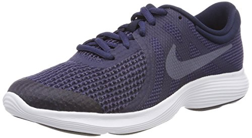 Nike Nike Jungen Revolution 4 (GS) Laufschuhe, Blau (Neutral Indigo/Light Carbon-Obsidian 501), 36.5 EU