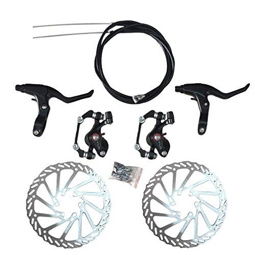 LIOOBO Kit de Freno de Disco de Bicicleta Aluminio Delantero Calibrador Trasero...