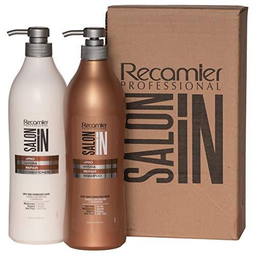 RECAMIER Salt Free Shampoo Repair and Ultra Hydrate Conditioner Hair Treatment Set   Champu y Acondicionador de Cabello 33.3 OZ