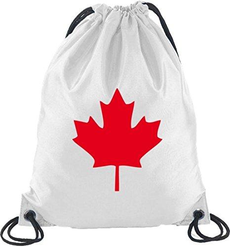 Shirtstreet24, CANADA/KANADA, Länder Turnbeutel Rucksack Sport Beutel, Größe: onesize,Weiß