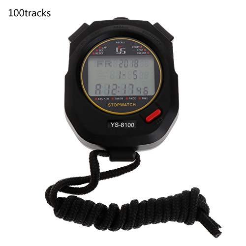 Mentin - Cronómetro Deportivo Multifuncional Digital, cronómetro de Bolsillo, Reloj de Mano LCD, Contador