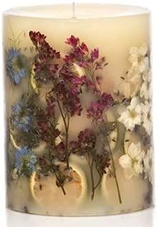 Rosy Rings Medium Round Botanical Candle - Roman Lavender