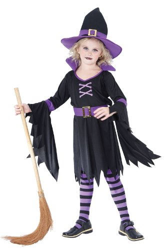 Childrens Halloween Glamour Witch Costume ~ Large