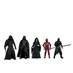 SITH: An ancient order of Force-wielders devoted to the dark side, the Sith practice hate, deception, and greed CELEBRATE THE SAGA: This special 3.75-inch-scale action figure set 5-pack is inspired by the characters from the Star Wars saga, and makes...