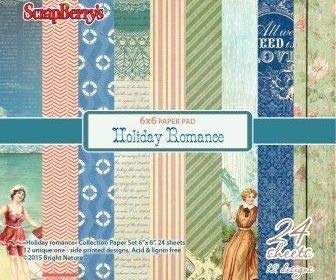 Papier-Set (24pcs) 170g / M2 - Holiday Romance, Scrapberrys, Papier, 15 x 15 Cm, Gedruckt, Scrapbooking