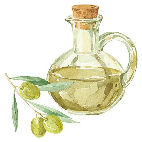 Wandtattoo Küche Obst Gemüse Wandtattoo Mediterrane Oliven mit Glas Flasche im