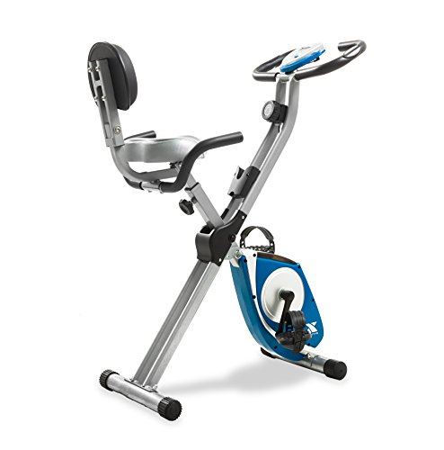 XTerra FB350 - Bicicleta de ejercicio plegable, color plateado. ✅