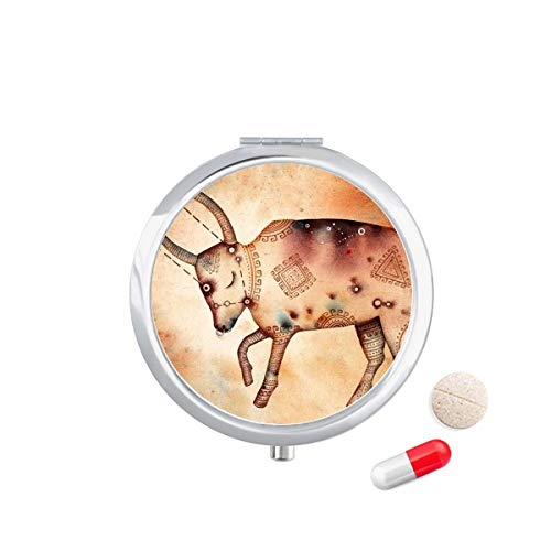 DIYthinker mei april Stier sterrenbeeld Zodiac Travel Pocket Pill Case Medicine Drug Opbergdoos Dispenser Spiegel Gift