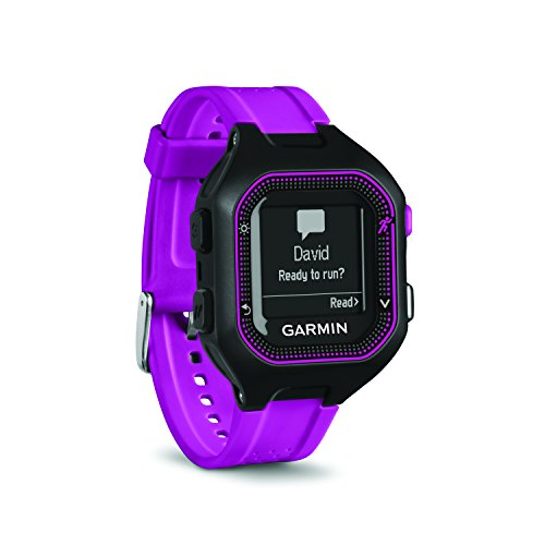 Garmin 010-N1353-20 Renewed Forerunner 25 GPS Running Watch - Black/Purple