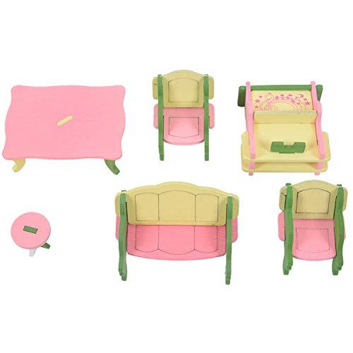 TOOGOO 49 piezas de 11 Juegos de Muebles de madera para bebes...