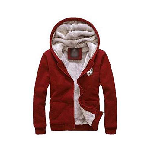 HaiDean heren herfst winter warme fleece set rits capuchon hoodie modern nonchalant dikke mantel met fleece joggingbroek sweatbroek