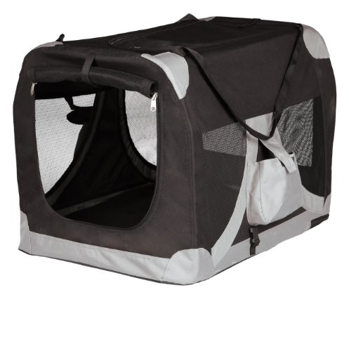 Trixie 39712 Mobile Kennel, S–M: 50 × 50 × 70 cm, schwarz/grau
